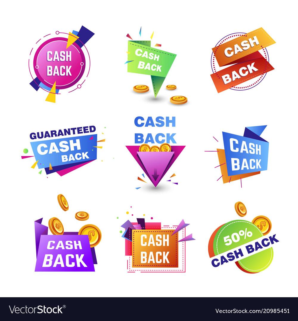 Cashback bonuses banner tags for shopping