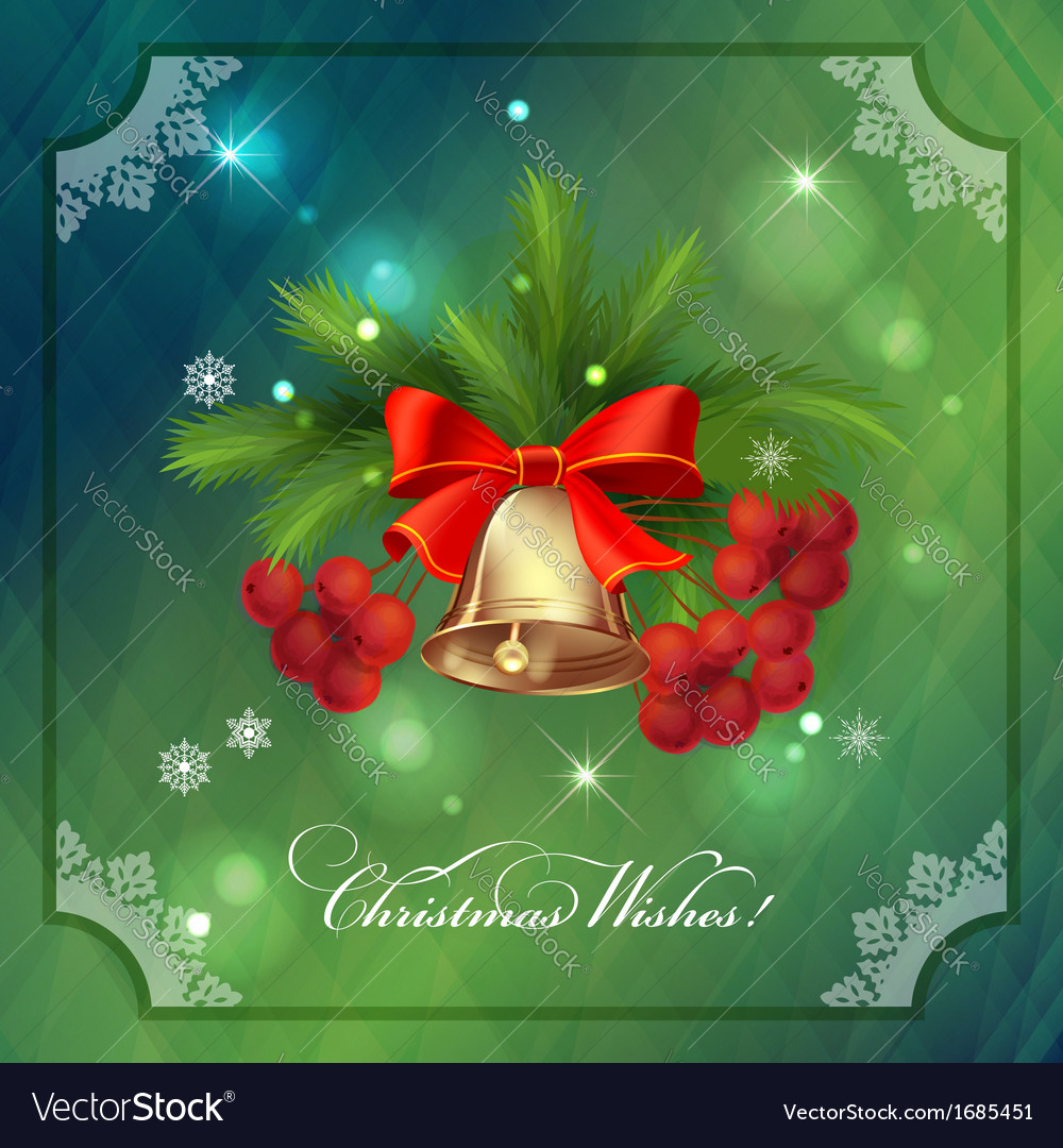 Christmas Holidays Frame Card with Decorations