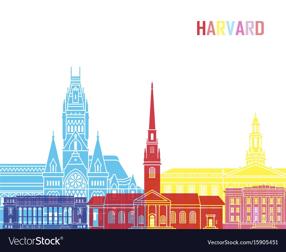 Harvard ma skyline pop vector image