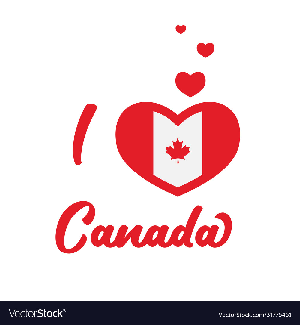 I love canada canada flag inside heart