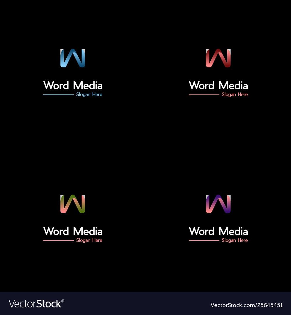 Letter w media logo design