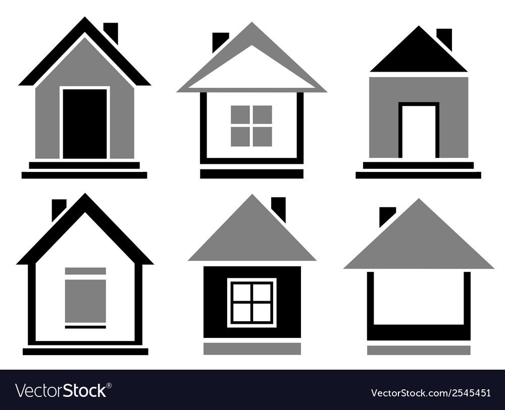Set cottage icons