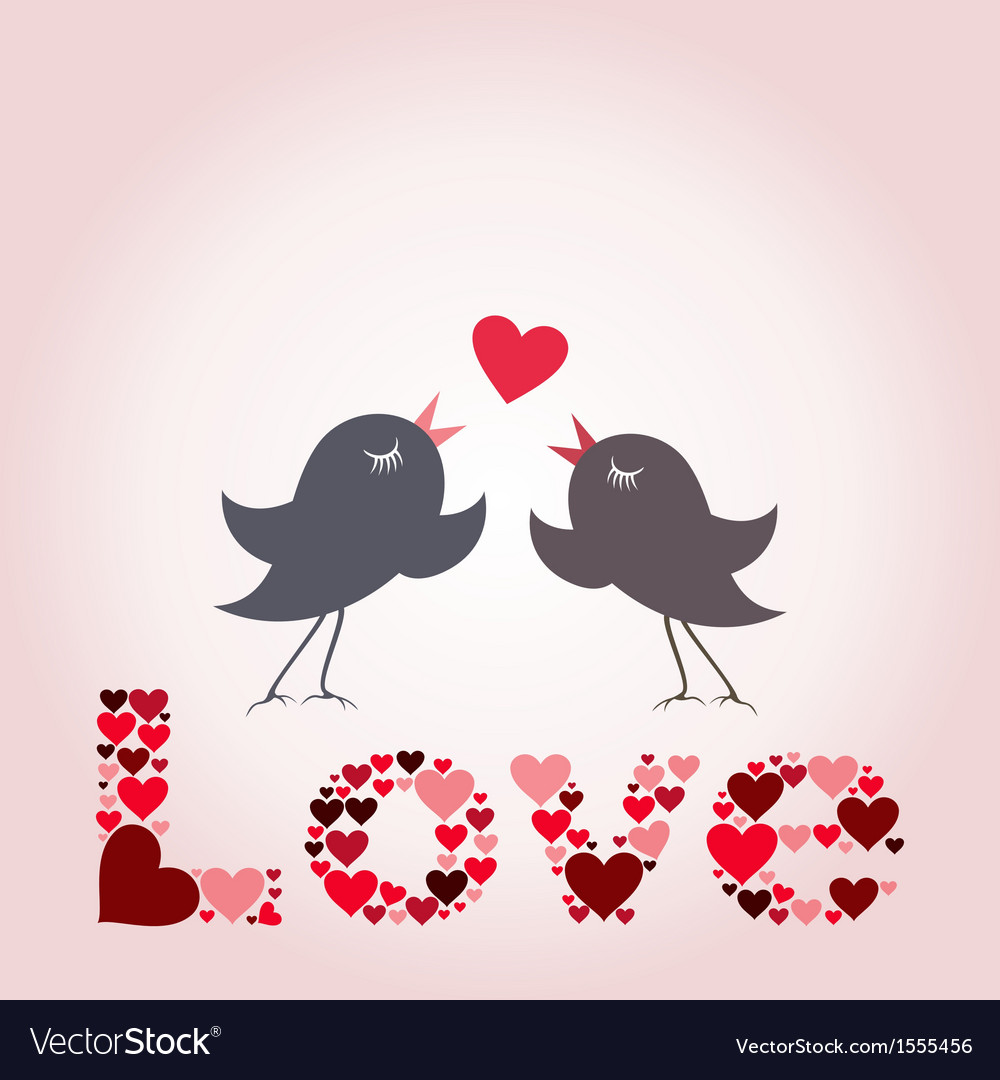 Bird of love8 vector image