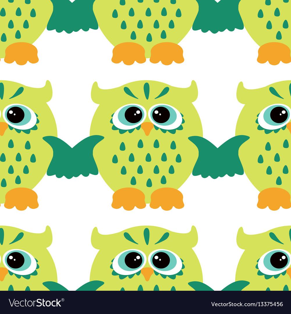 Cartoon style seamless owl pattern fir ki