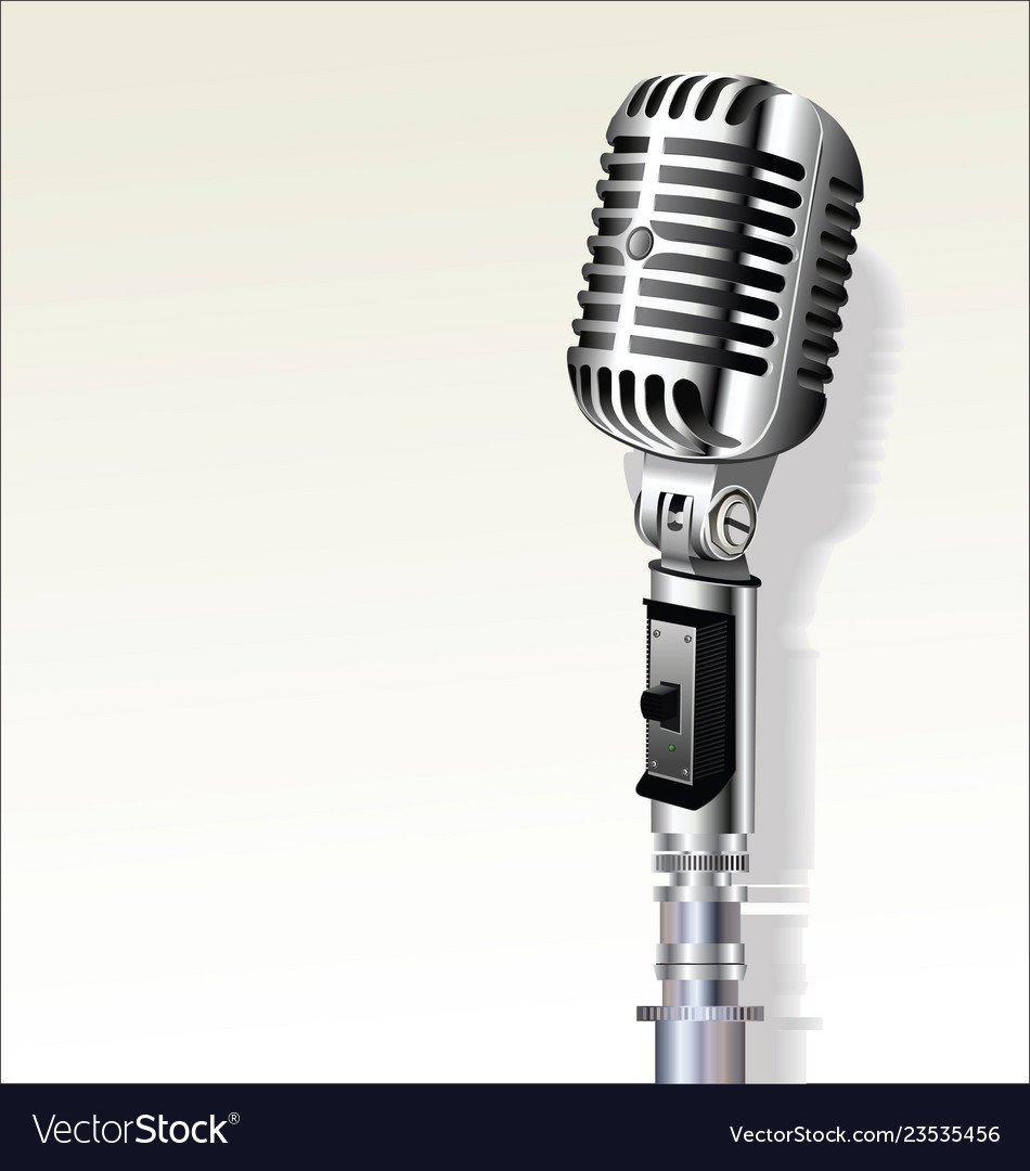 edd357b05 Retro vintage microphone background 6 Royalty Free Vector
