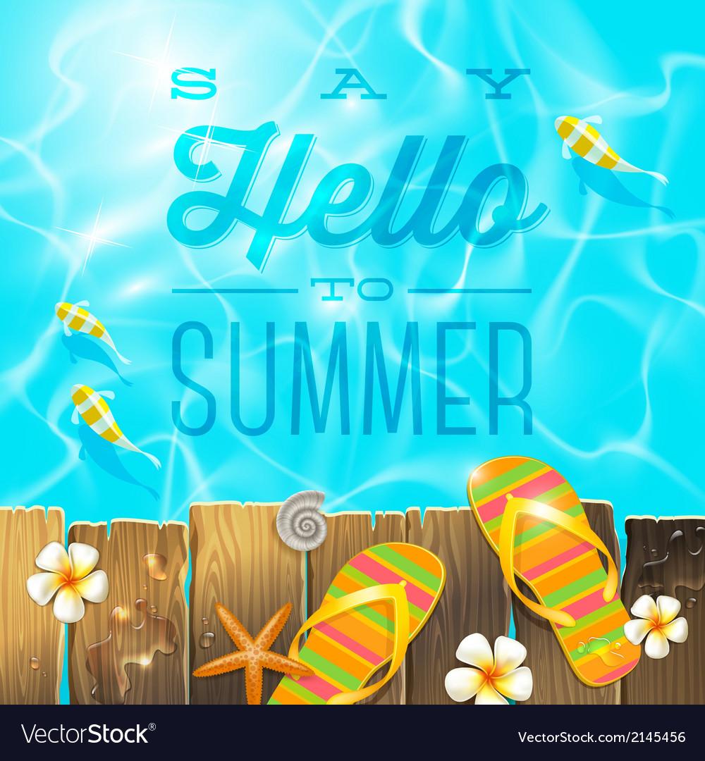 Summer holidays vacation greeting