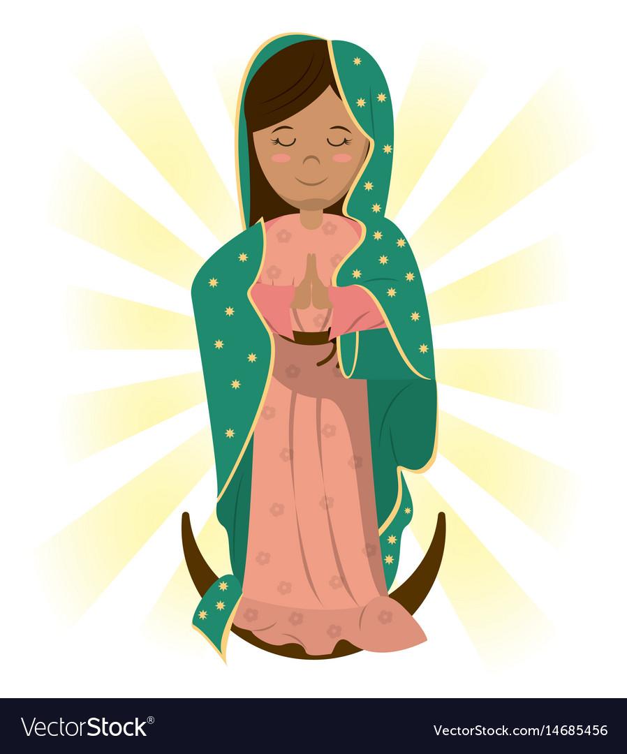 Virgin mary catholic prayer bless image