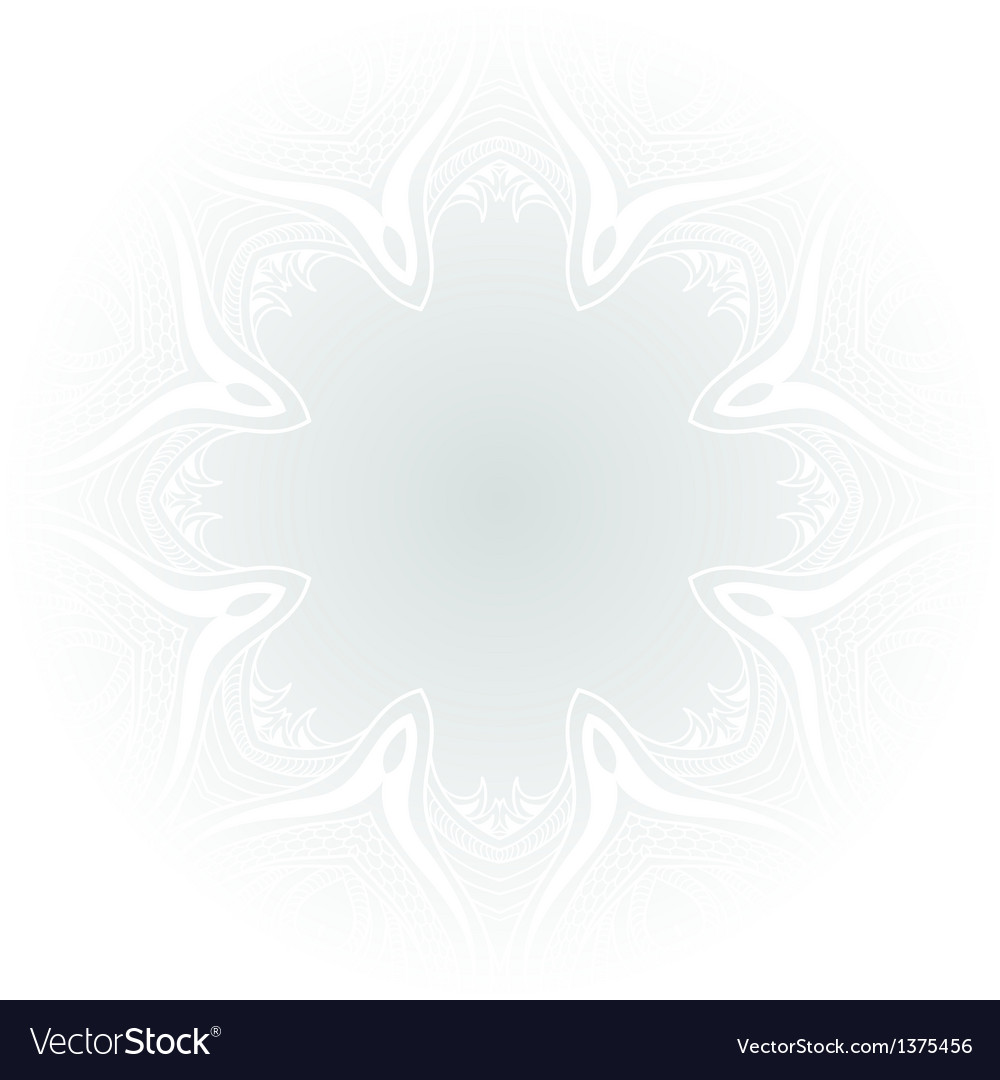White and blue ornament background vector image