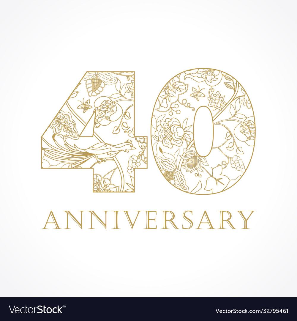 40 anniversary vintage logo