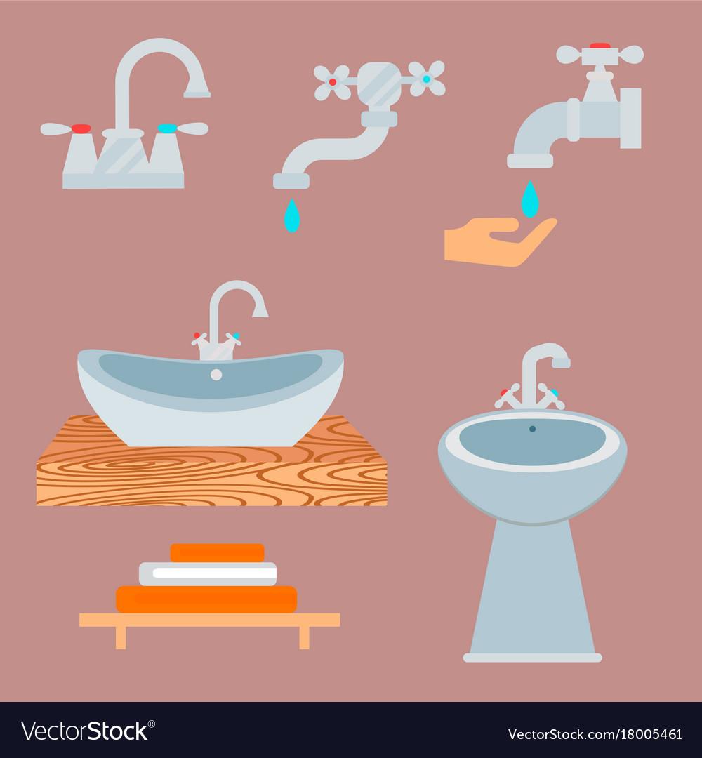 Bath equipment icon toilet bowl bathroom clean