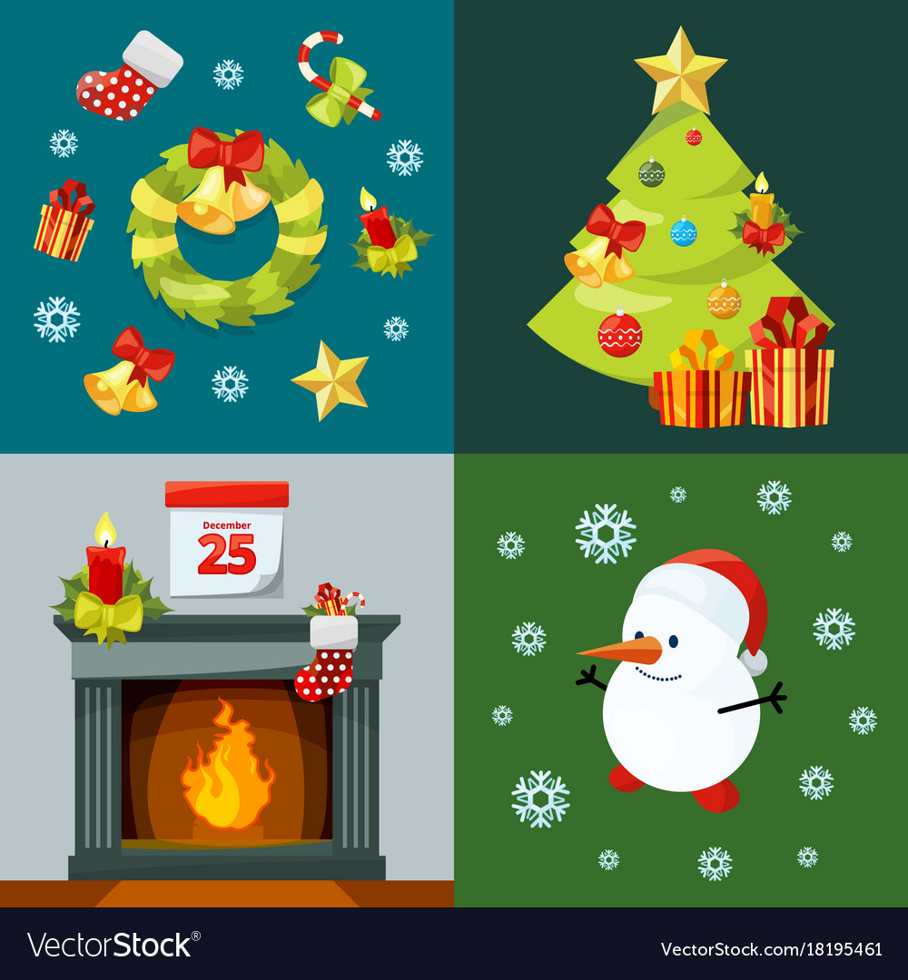 Conceptual pictures of christmas celebration