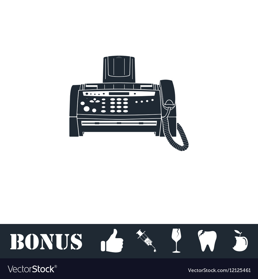 Fax machine icon flat vector image
