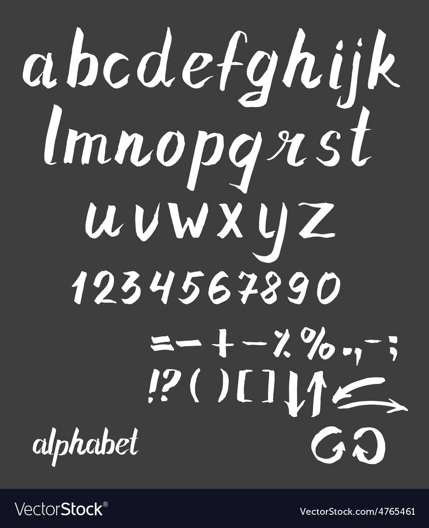 Hand drawn ink alphabet