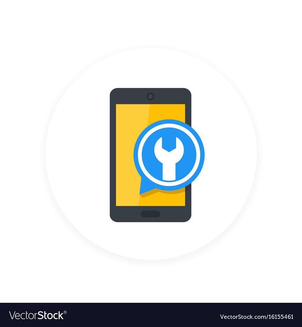 Phone repair configuration flat icon vector image
