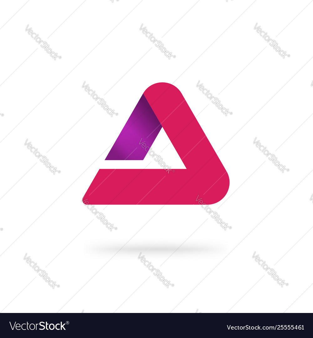 Triangle abstract logo isolated red