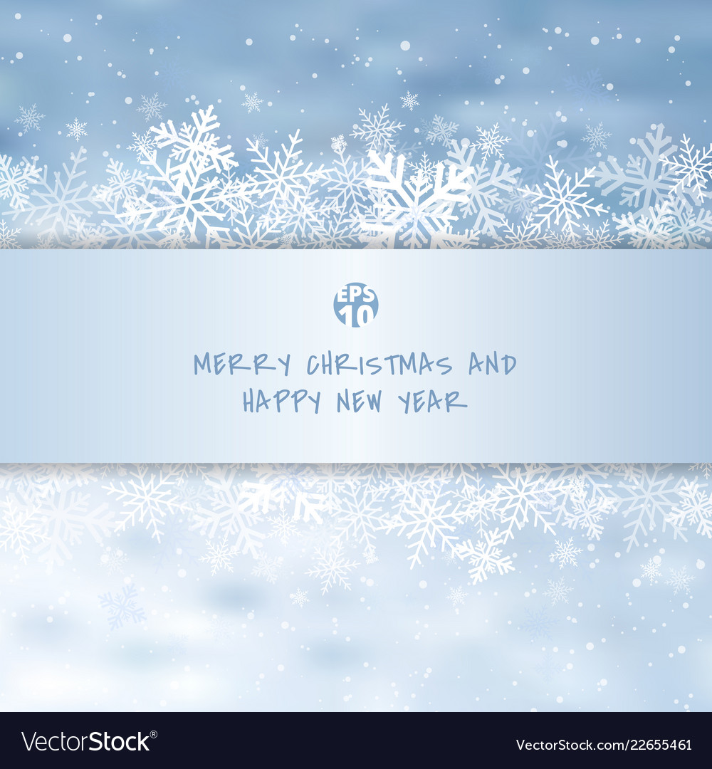 Winter white merry christmas greetings card made