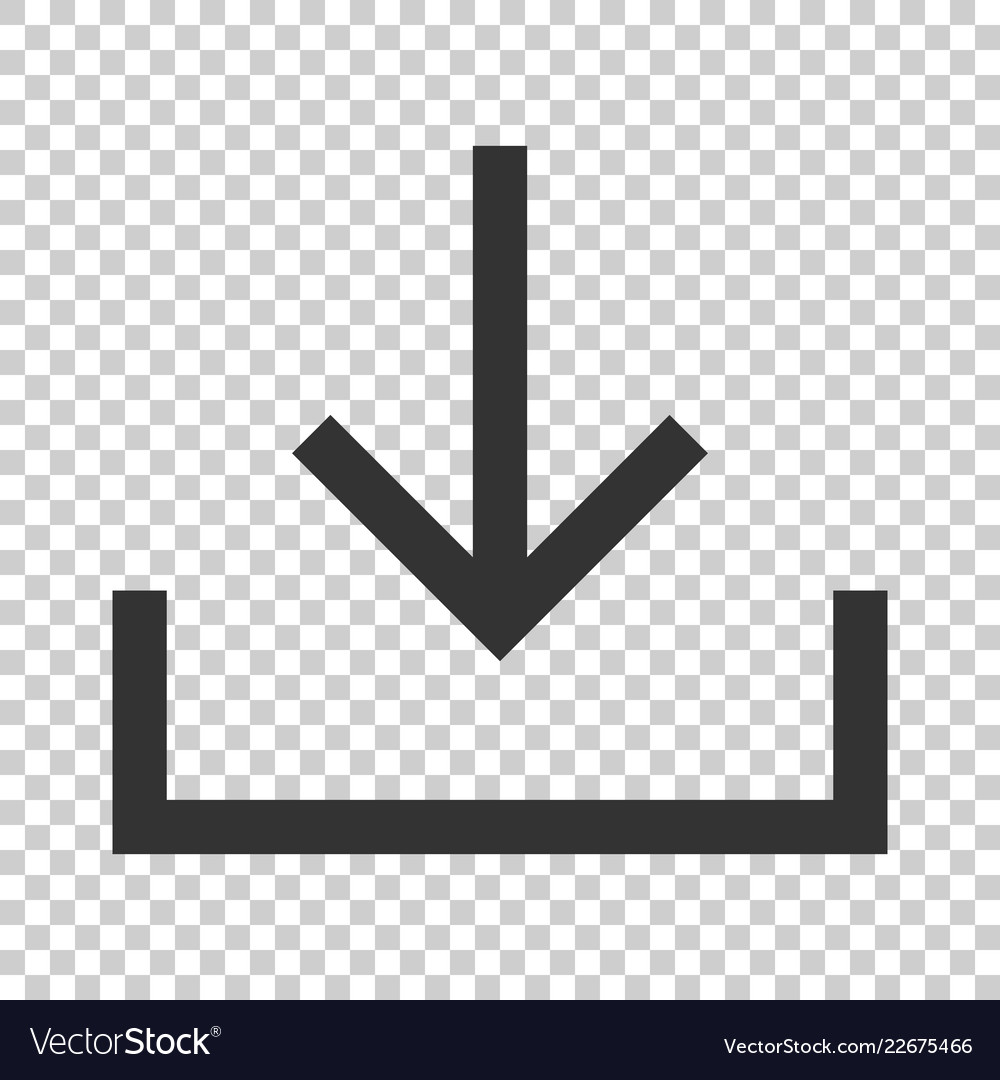 Download file icon in flat style arrow down