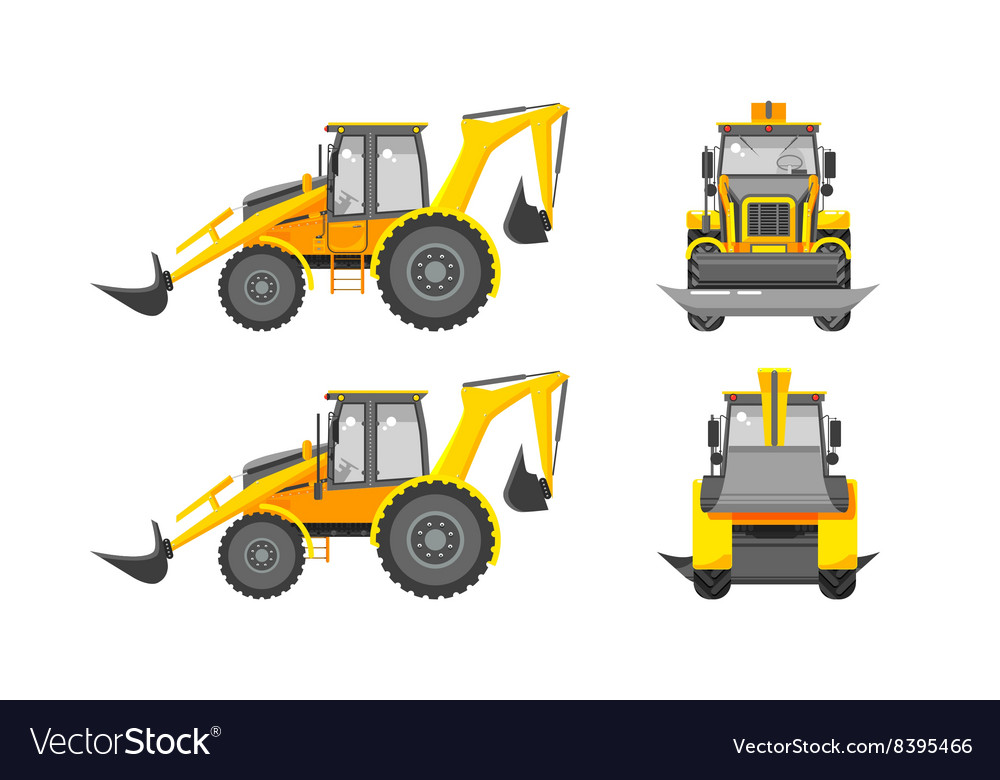 Excavator number one vector image