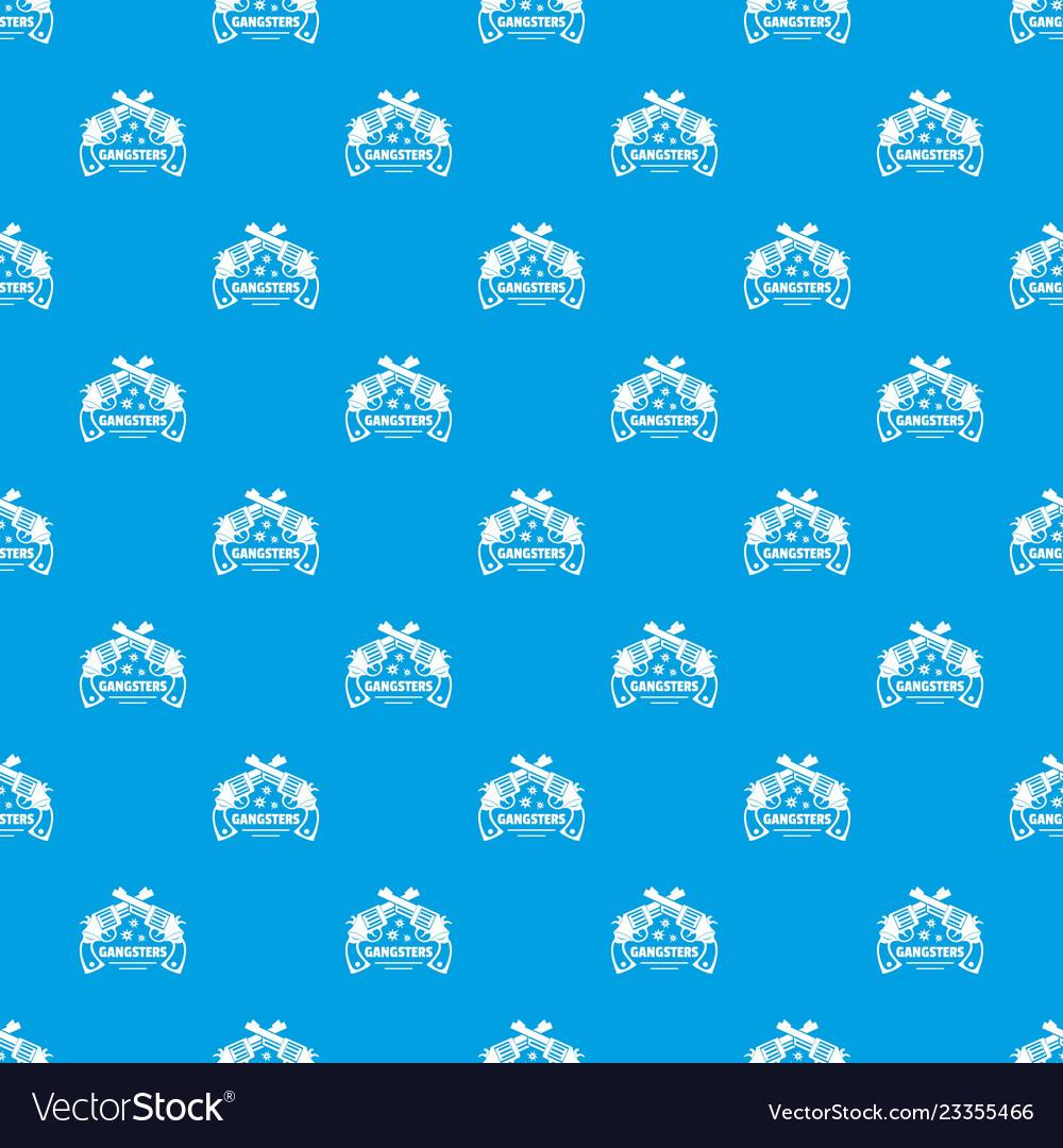 Gangsters pattern seamless blue