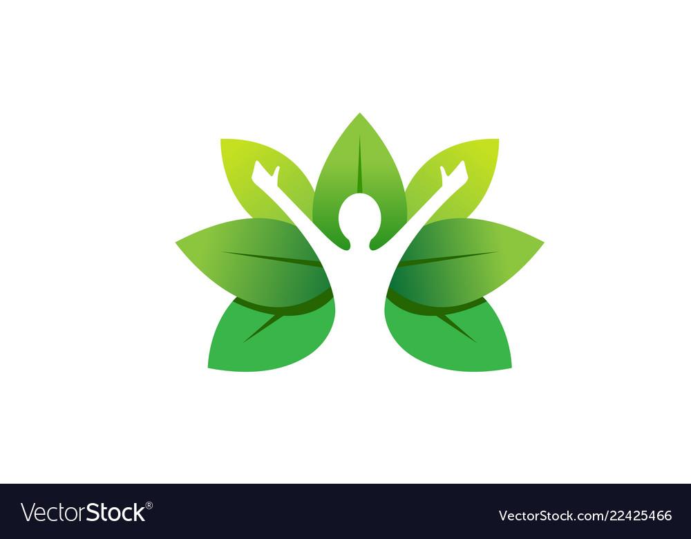Healing body leaves logo