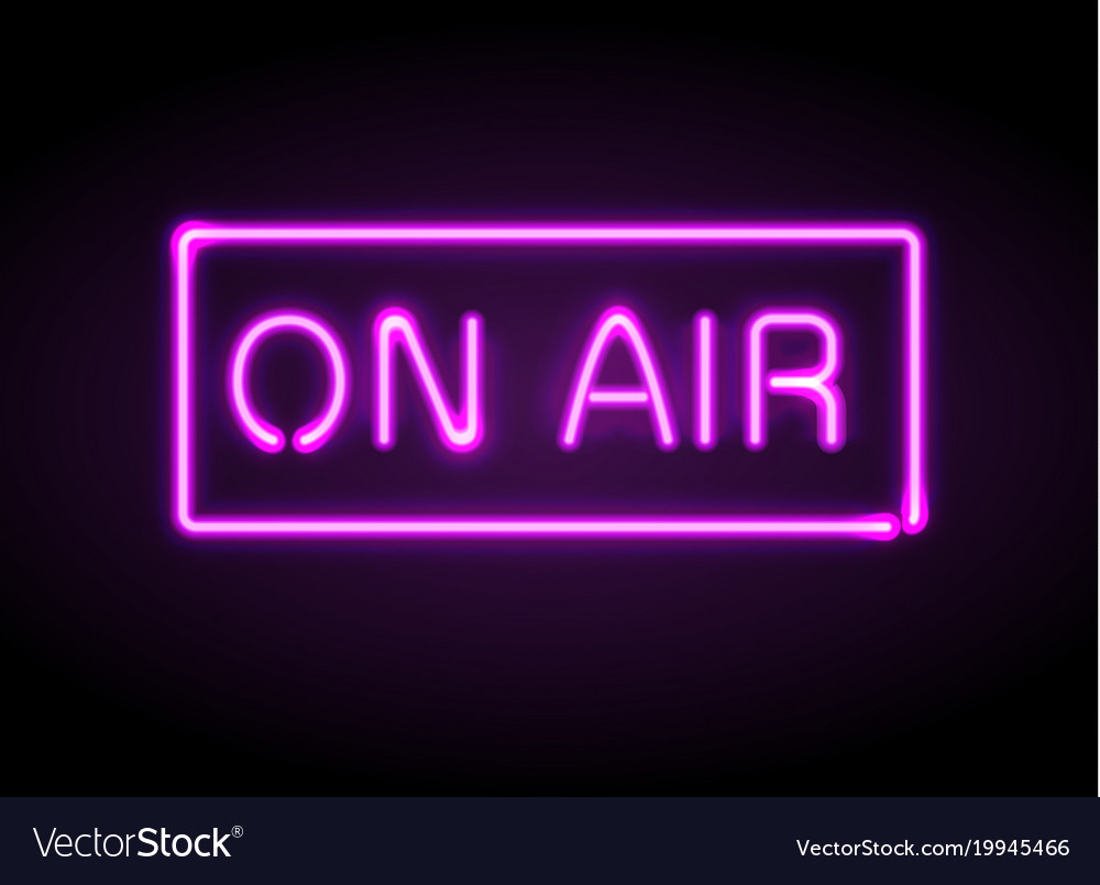 On air broadcast radio neon sign royalty free vector image on air broadcast radio neon sign vector image thecheapjerseys