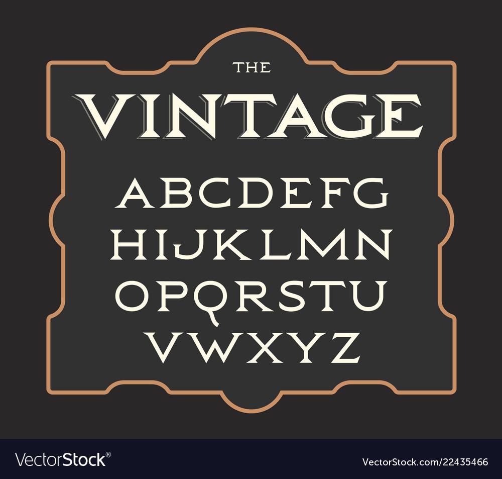 Set of vintage letters retro latin