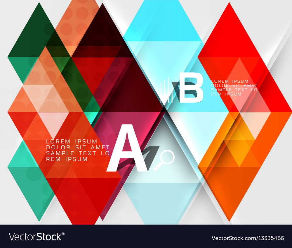 Transparent triangle tiles banner