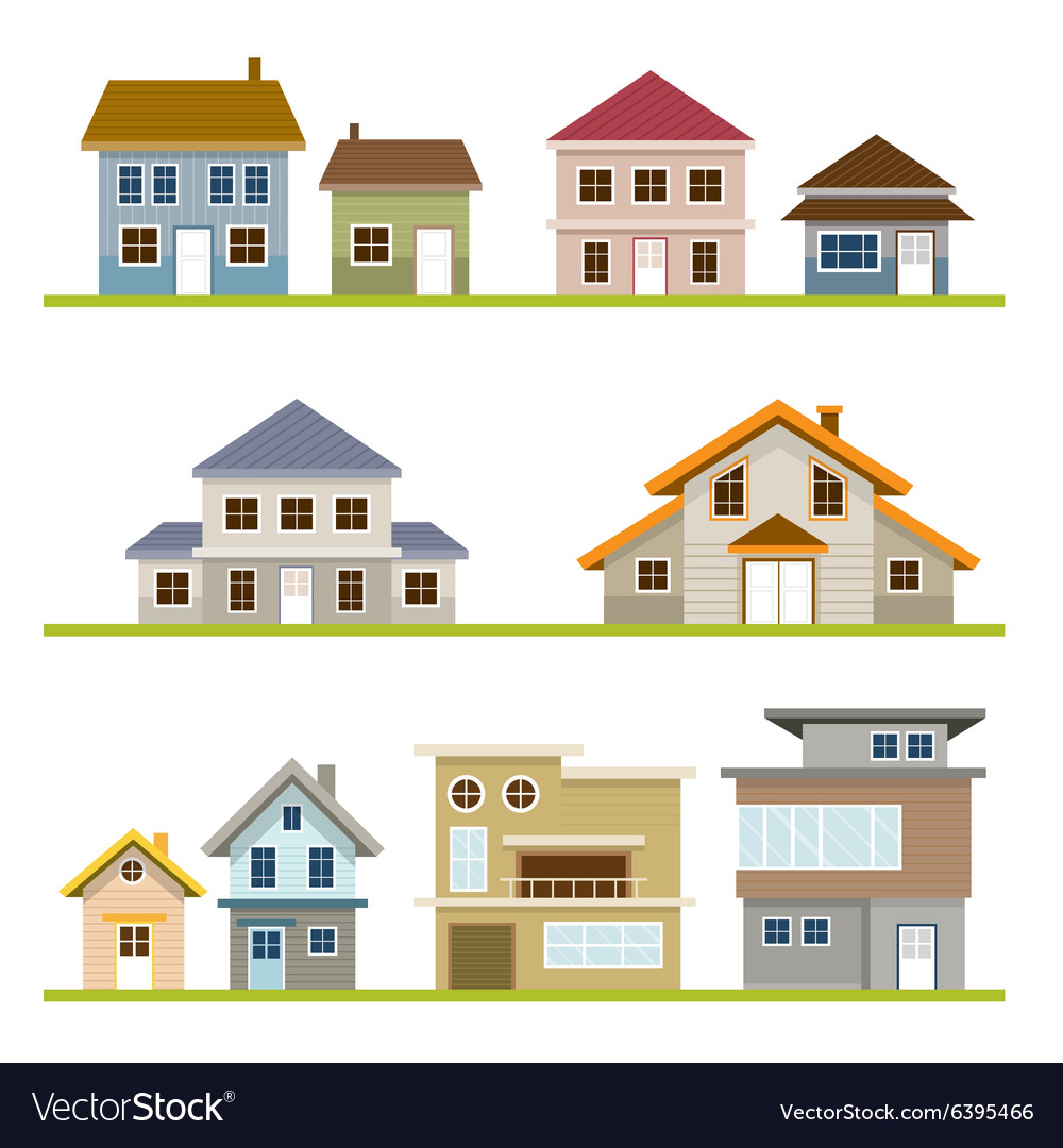 Various Houses Style Set vector image