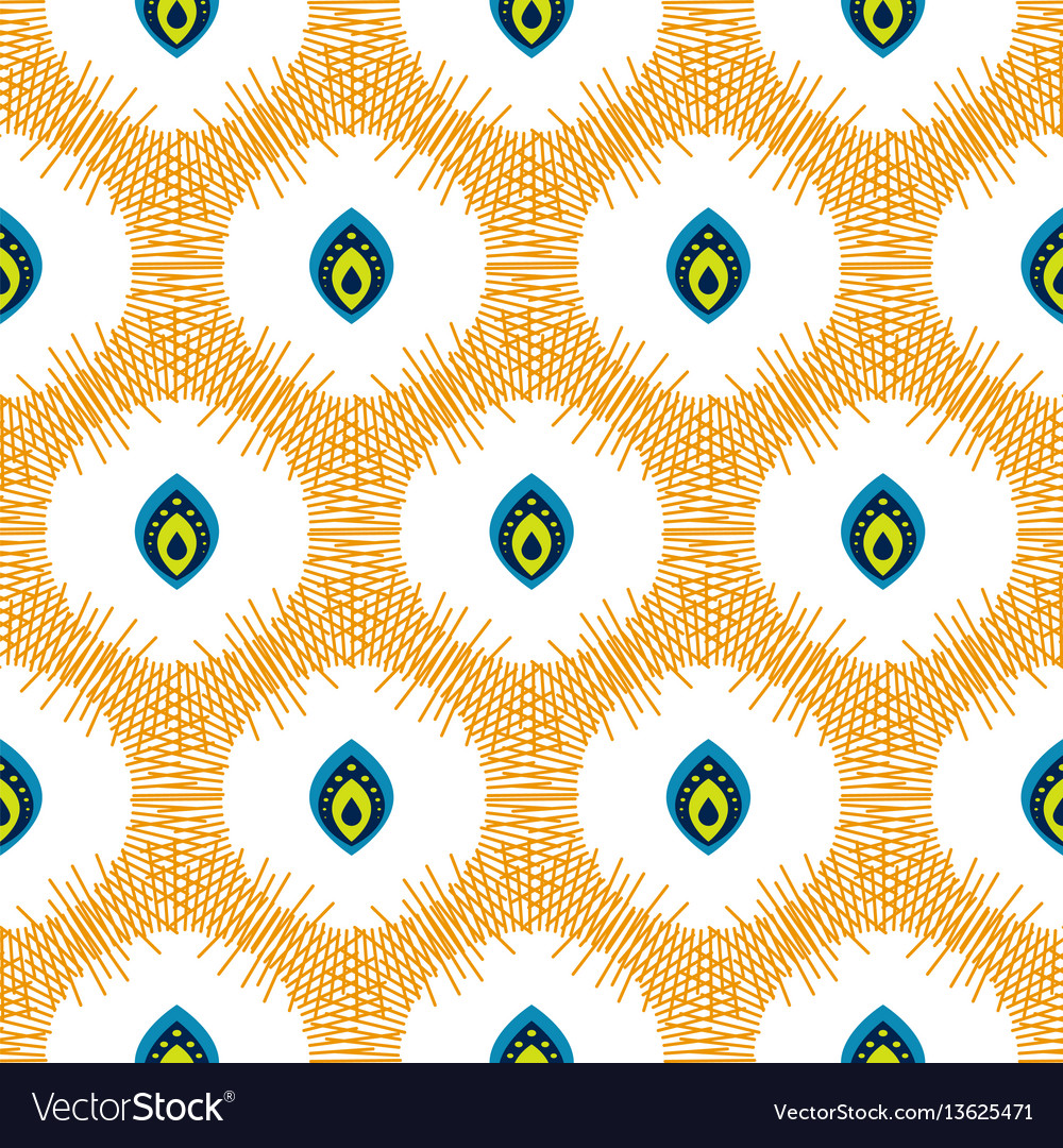 Abstract seamless pattern with drops in circles