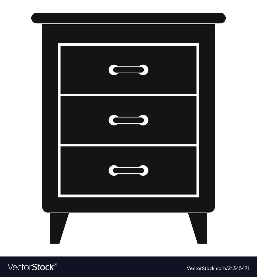 Night Stand Icon Simple Style Royalty Free Vector Image