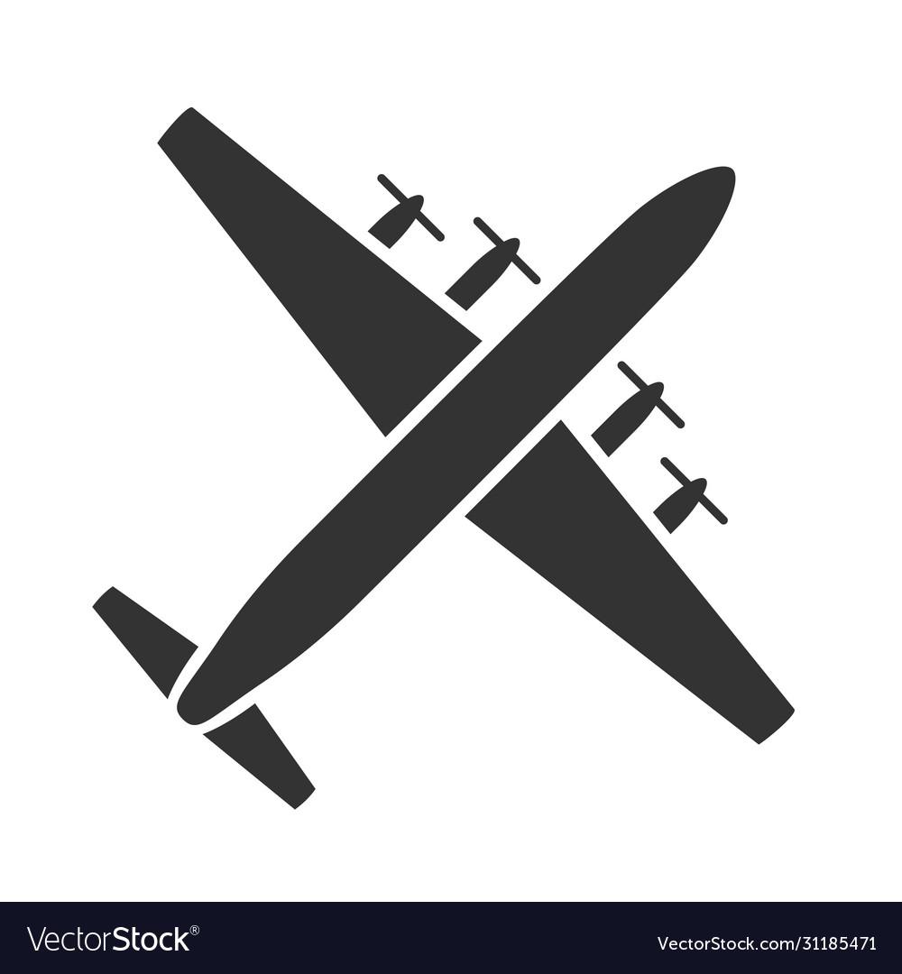 Passenger transportation black icon air trip
