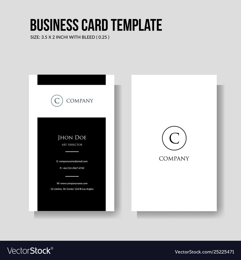 Simple and minimalist business card template