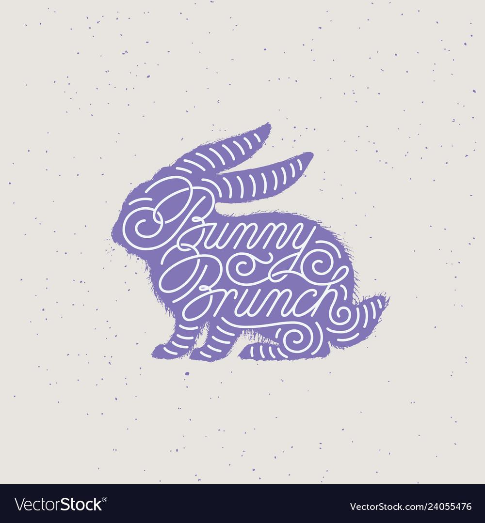 Bunny brunch lettering