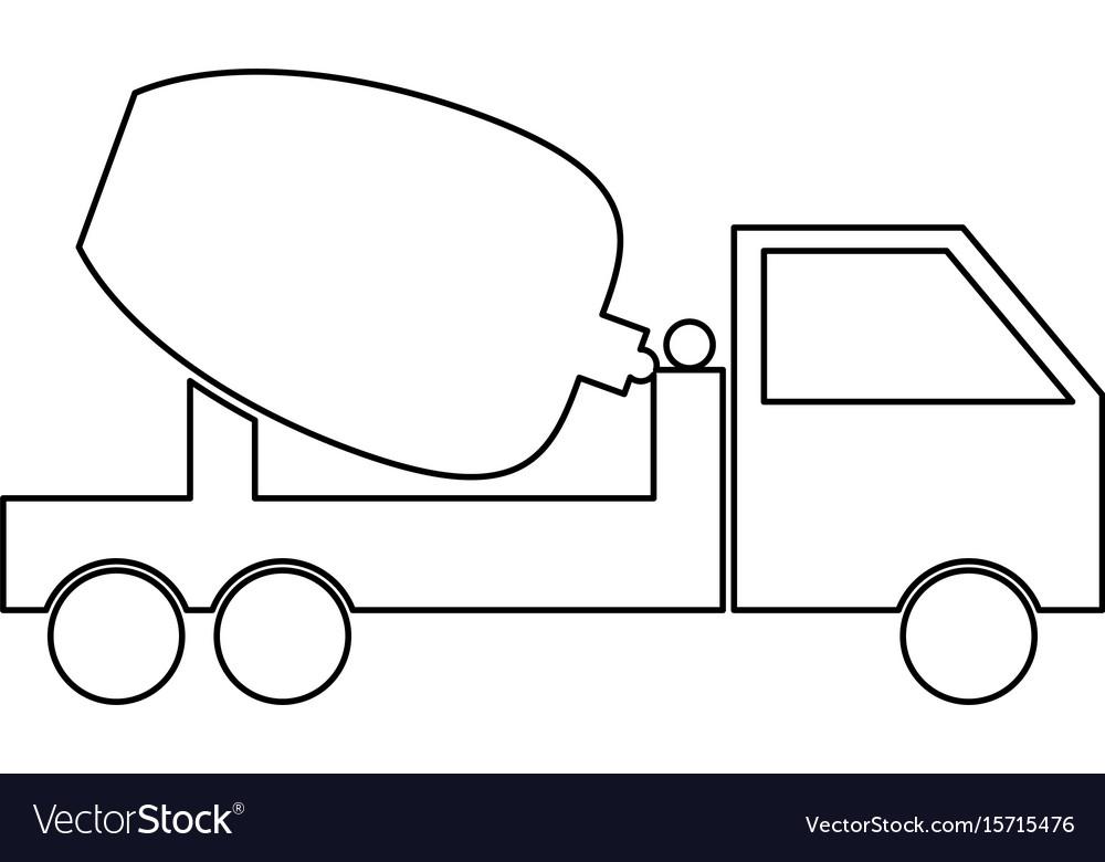Cement mixers truck icon