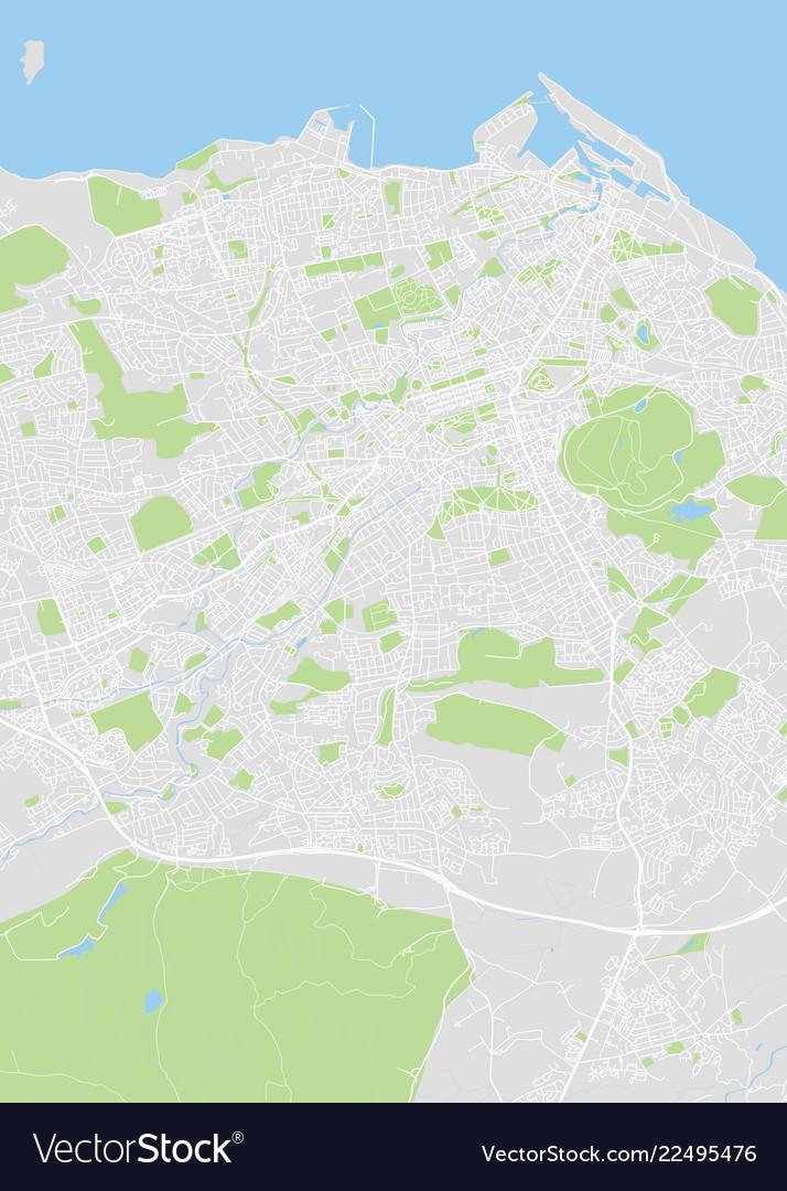 Detailed color map of edinburgh