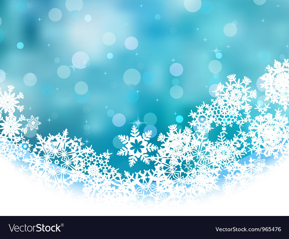 Elegant Christmas Snowflakes Background Royalty Free Vector