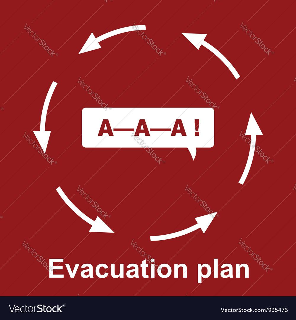 Emergency Evacuation Plan Royalty Free Vector Image