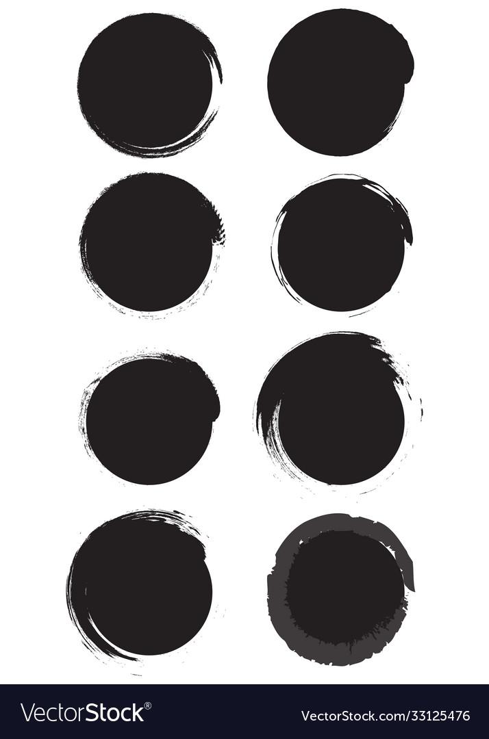 Grunge circles black