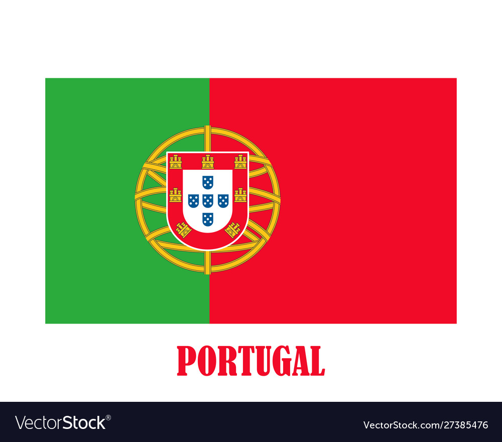 Simple flag portugal vector