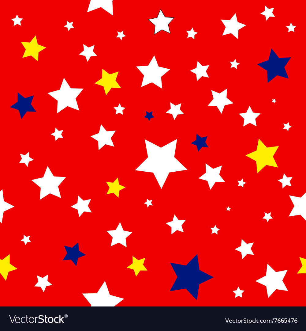 Stars red white yellow blue pattern