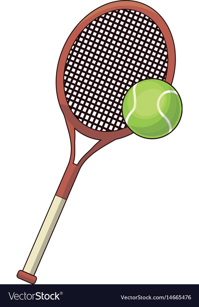 Tennis racket and ball sport design