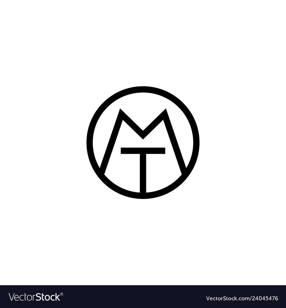 Tm mt logo initial monogram icon