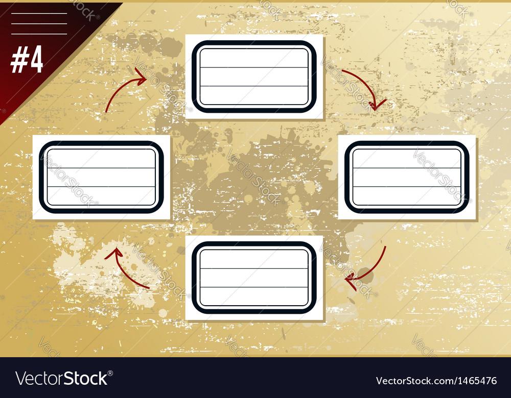 Vintage Hierarchy Diagram Royalty Free Vector Image