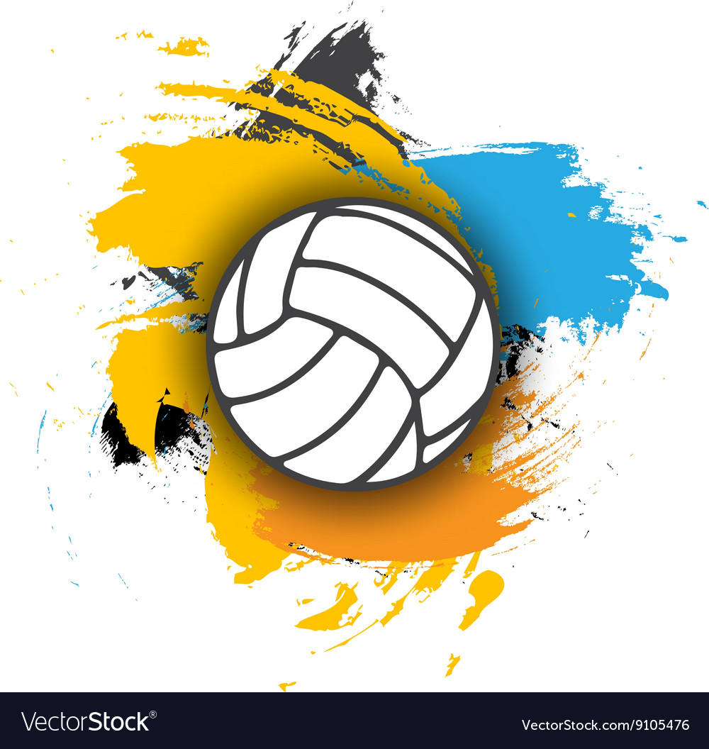 Volleyball logo on the background of multi