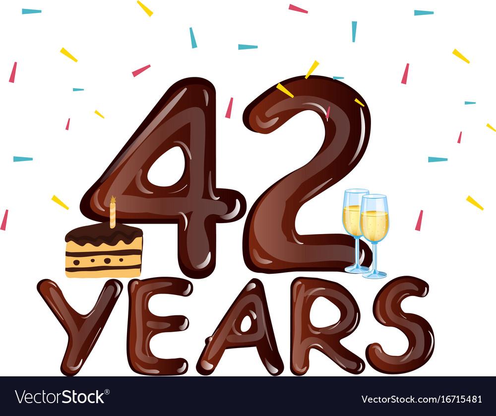 42 years anniversary celebration with cake