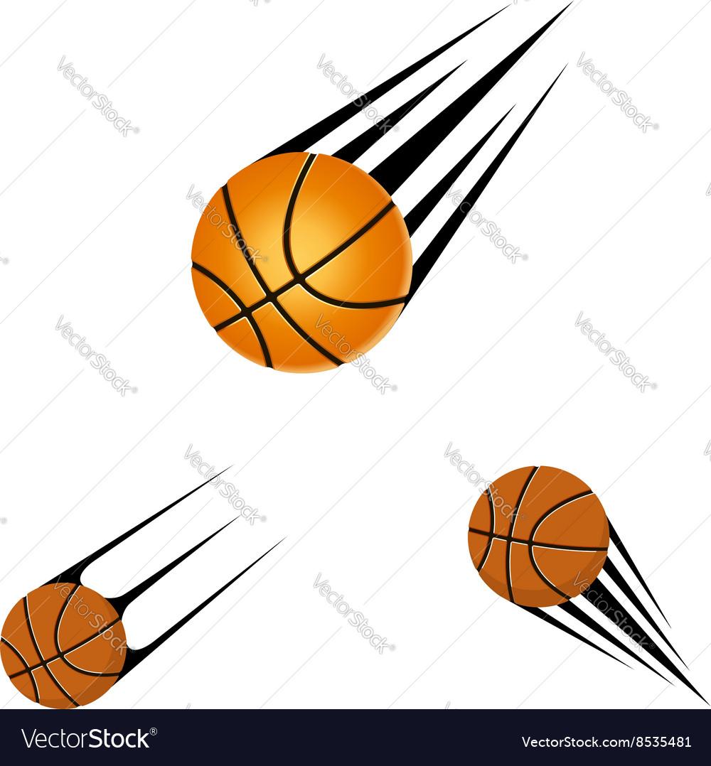 Basketball logo on a white background
