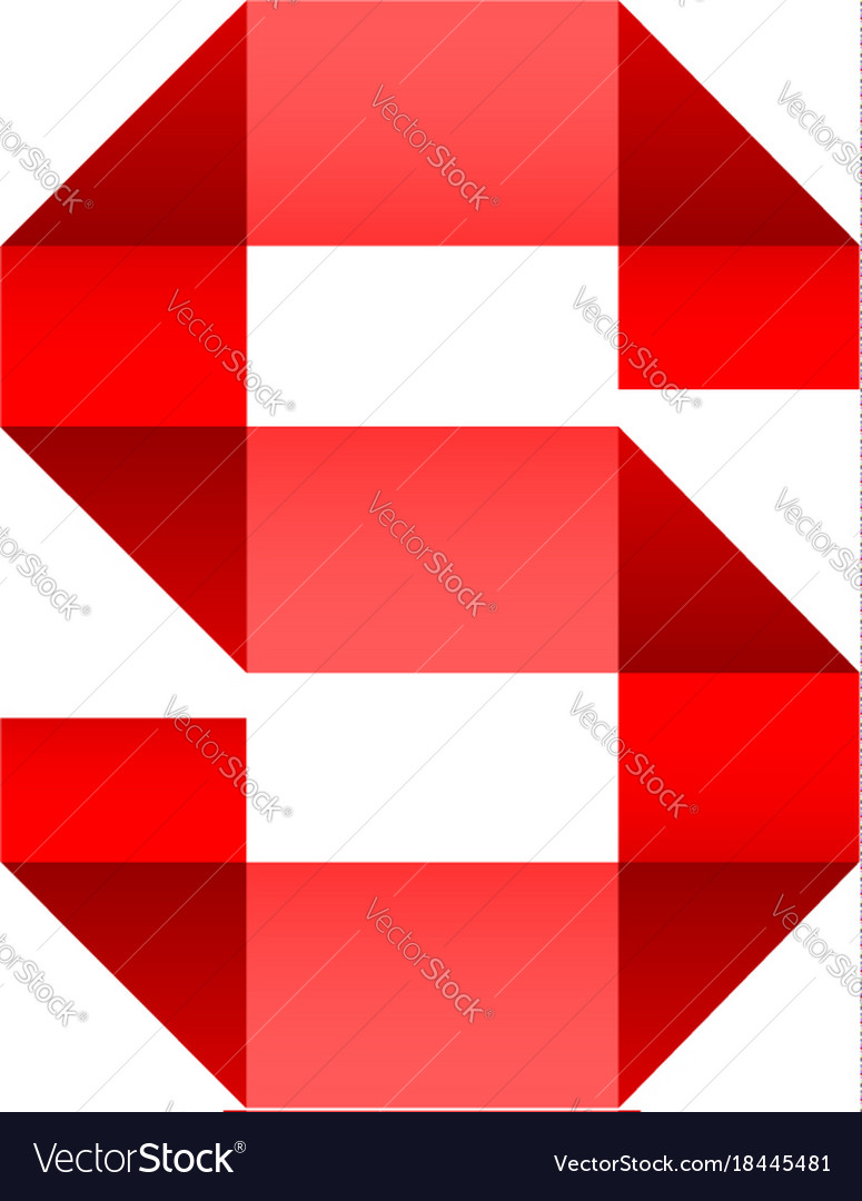 Font folded paper letter