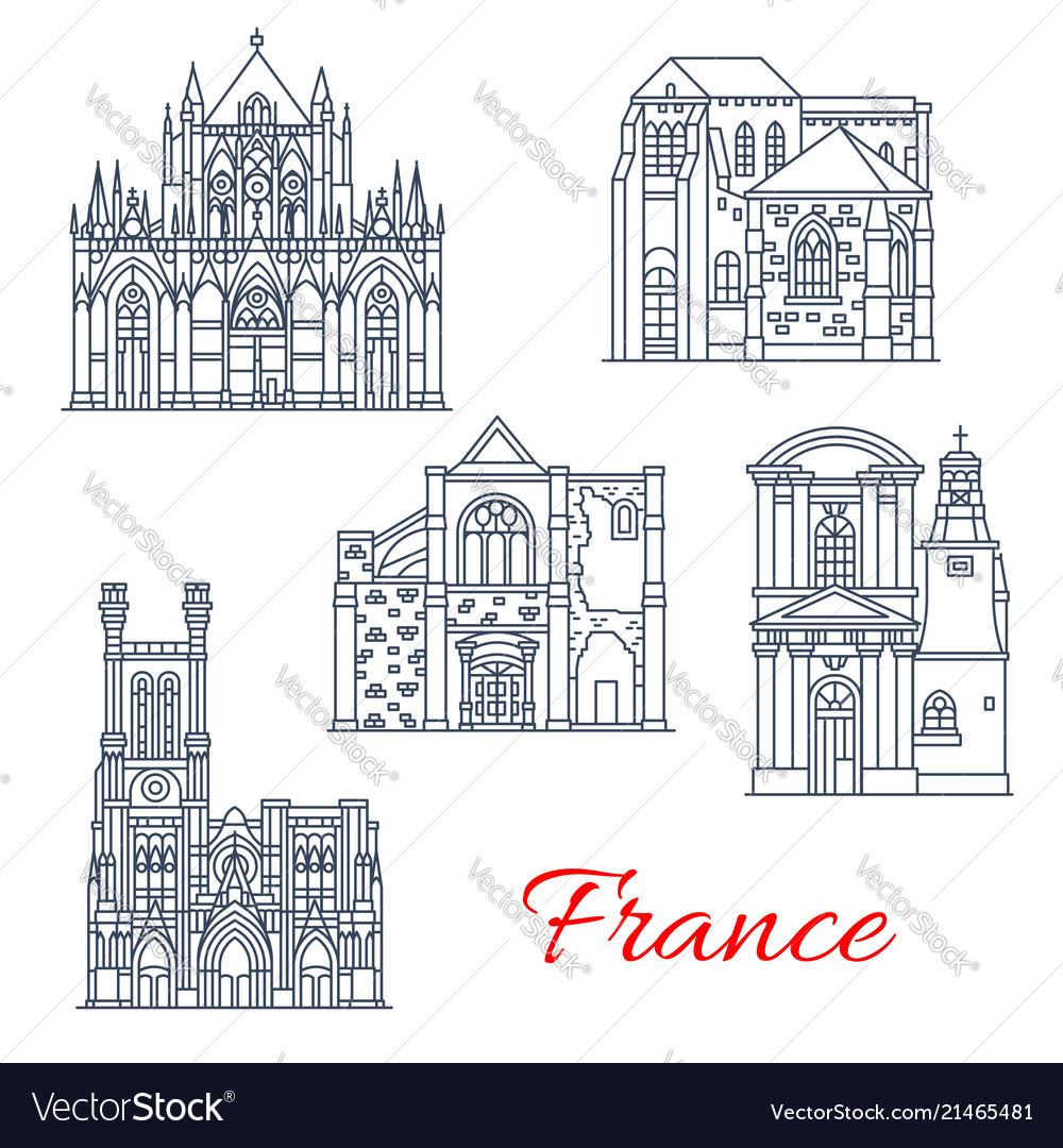 France landmarks facades icons provence