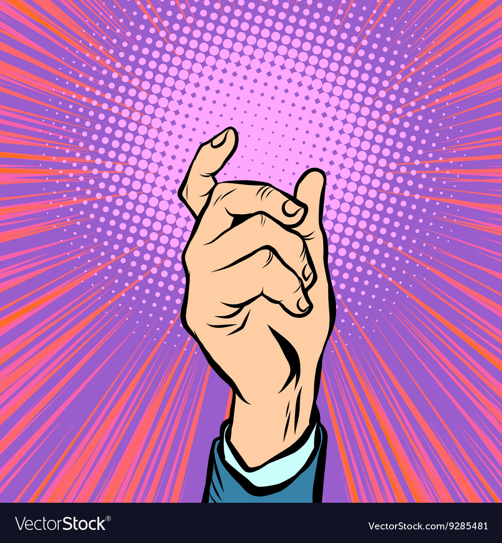 Gesture male hand hold vector image