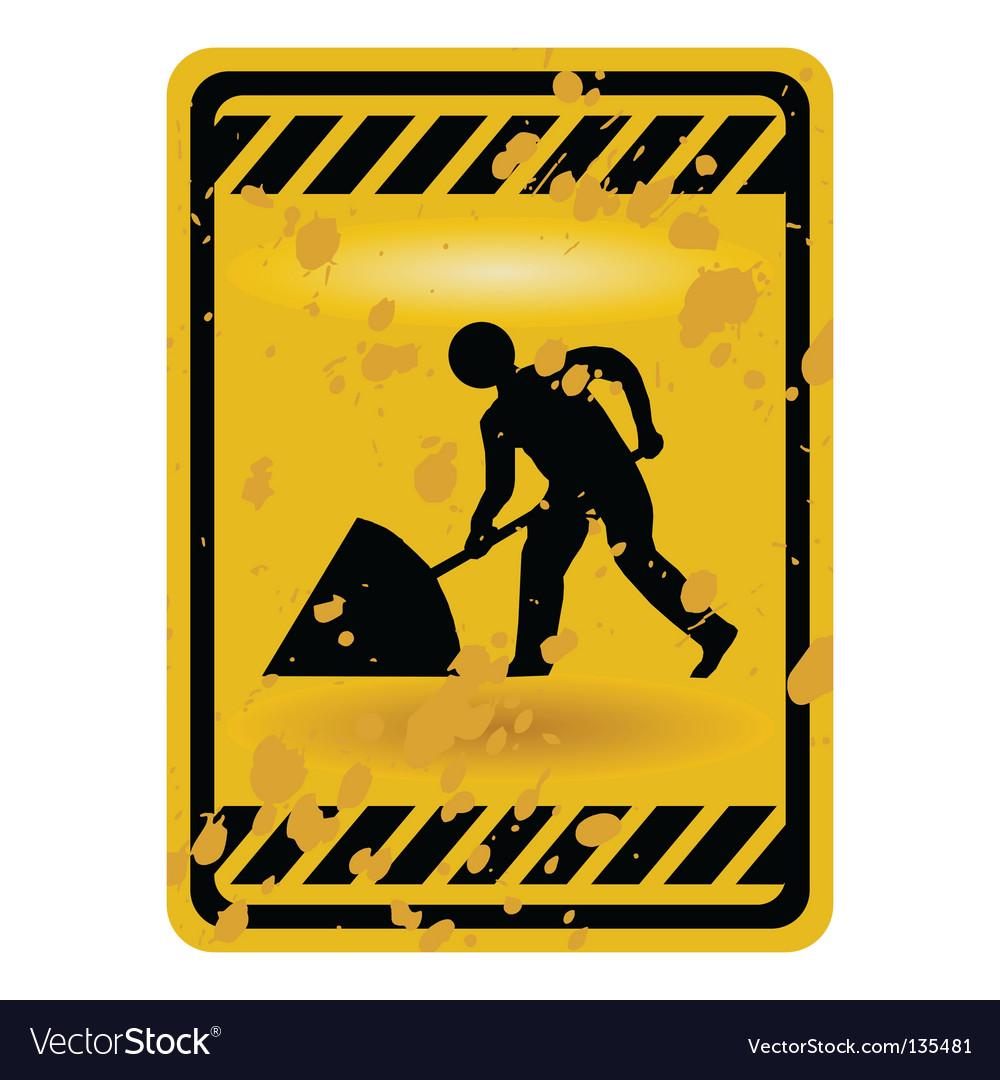 Men at work sign vector image